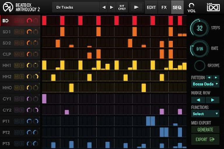 BeatBox Anthology 2 GUI Sequencer