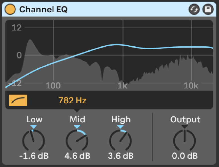 PIC 3: Live's new Channel EQ in action.