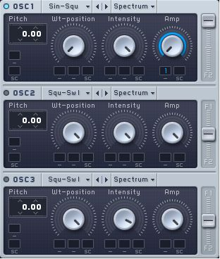 Amp Modulation for OSC 1