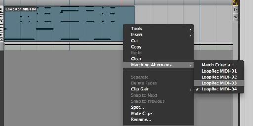 Right-clicking reveals the same choices via a different menu