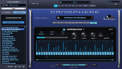 Figure 11 - Arpeggiator in Omnisphere