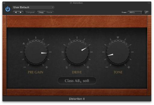 The Distortion II plug-in.