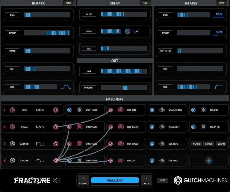 Glitchmachines Fracture XT interface.