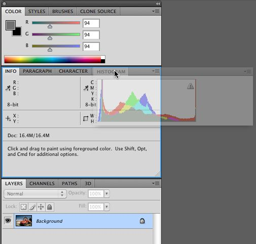Organize palettes