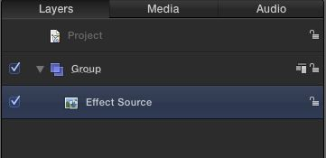 The Effect Source is selected in the Layers pane.