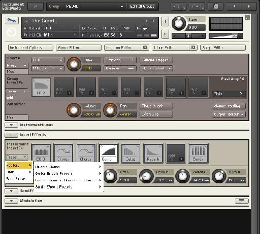 Use Kontakt's plug-in and rack system to add further effecrs to your piano patches.