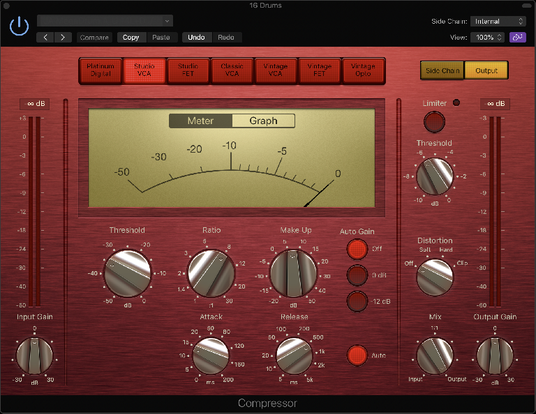 Fig 2 A Focusrite Red emulation in Logic's Compressor