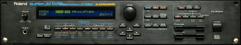 The original Roland JV-1080 hardware synthesizer.