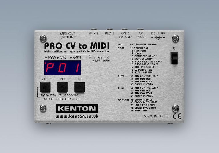 Kenton Pro CV to MIDI Convertor.