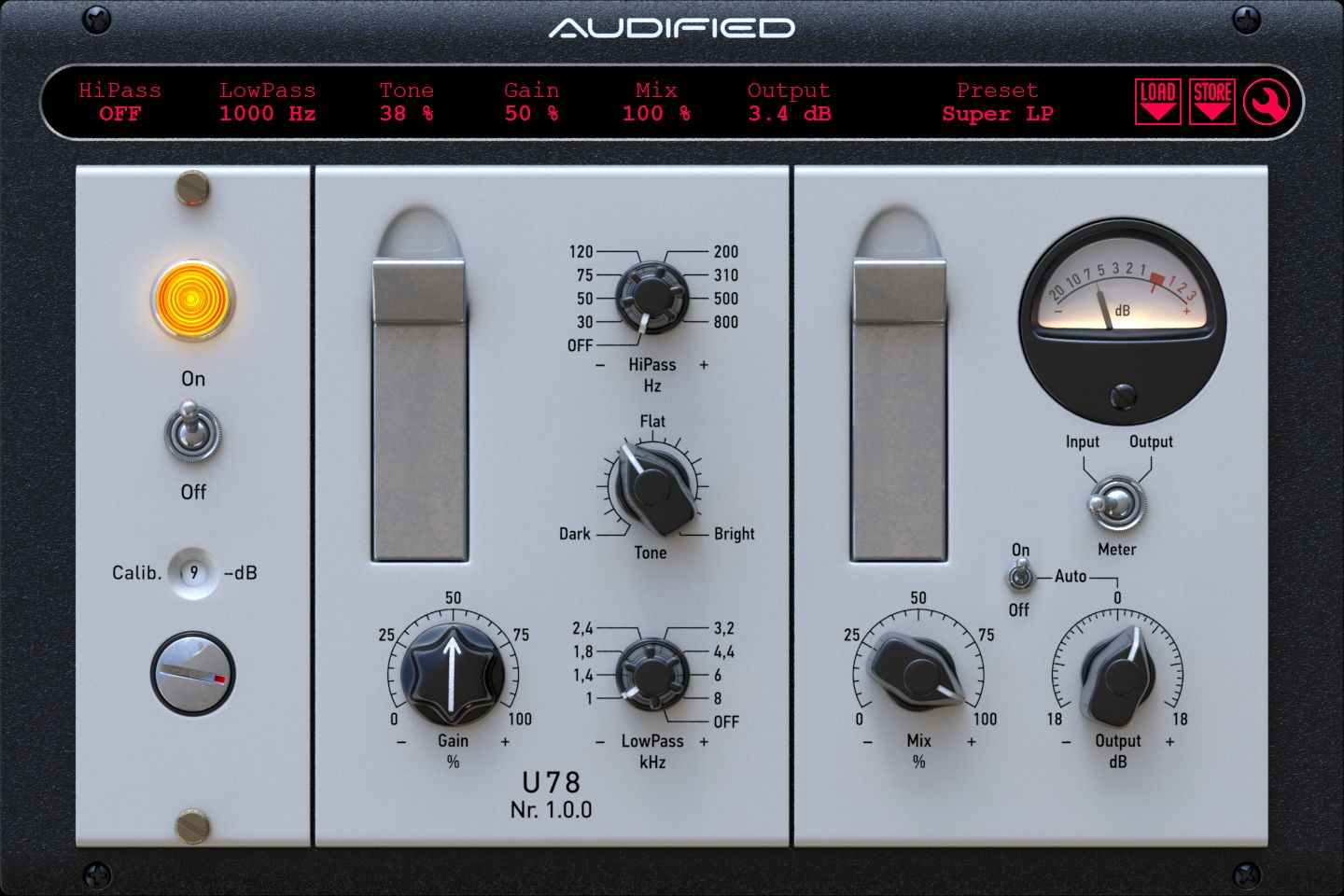 Audified U78 saturator plug-in is available now.