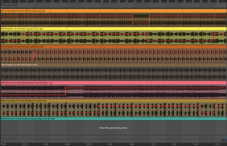 PIC 3: Mute automation recorded to the Arrangement view with no visual feedback from Clips – you hate to see it.