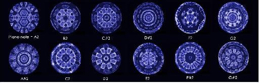 Figure 3—Notes on a Piano as Cymatic Images (cymascope.com).
