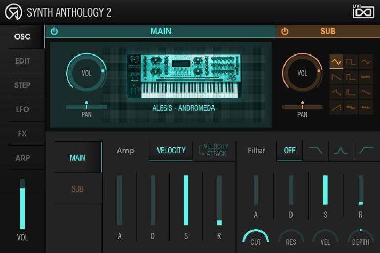 UVI Synth Anthology 2 GUI