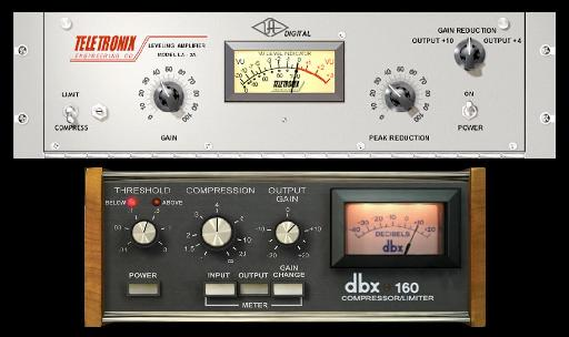 Opto (LA2A-style) and VCA (dbx 160-style) compressor plug-ins