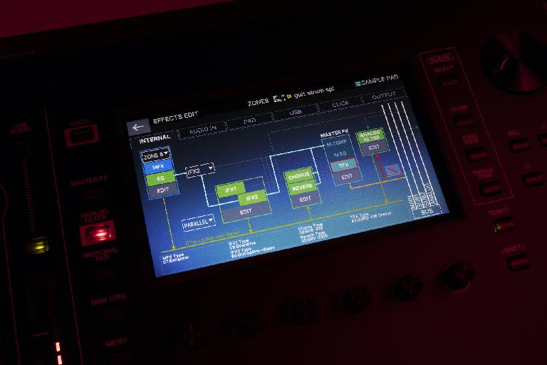 Roland Fantom 2.0 effects screen