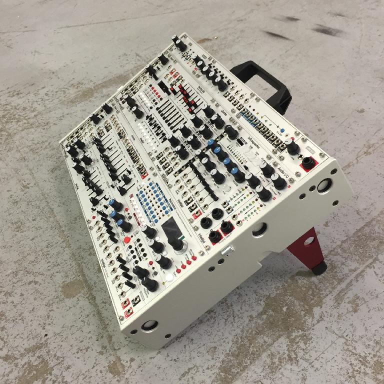 Intellijel's 7U cases feature a strip for tile modules