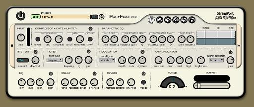 PolyFuzz by Keith McMillen Instruments, an FX processing application developed using Max