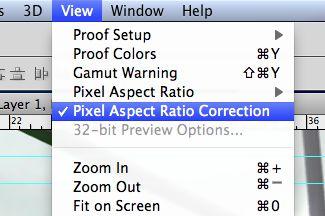 turn off pixel aspect ratio