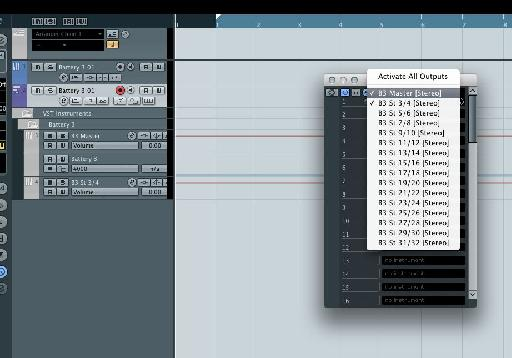 Creating separate outs in Cubase