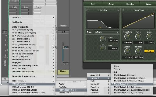 Logic requires that you choose the amount of outputs as you load the plug-in