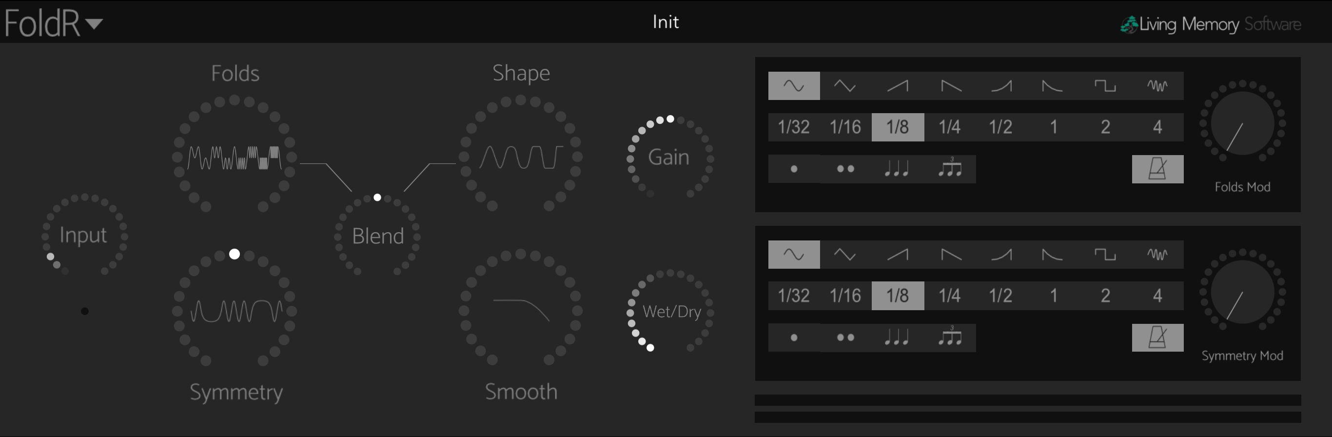 FoldR interface.