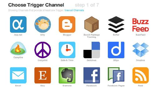 Choose 'Feed' as the 'Trigger' channel.
