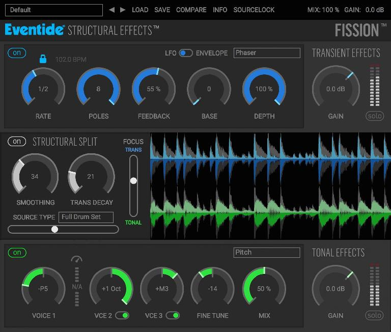 Eventide Fission GUI.