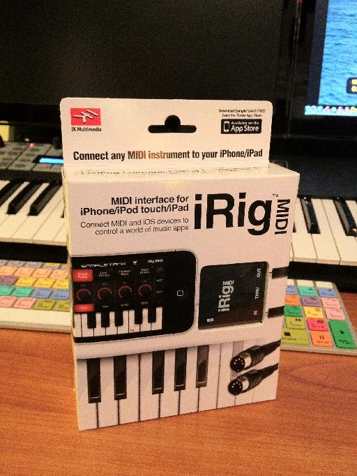 iRig MIDI touches down in my studio