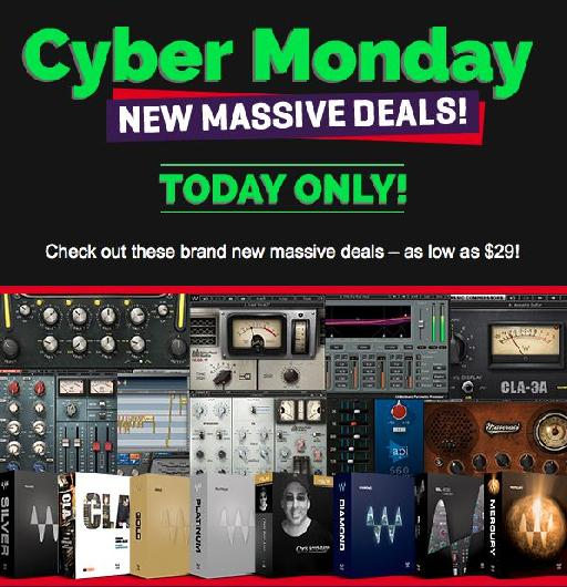 Waves Audio Cyber Monday Deal