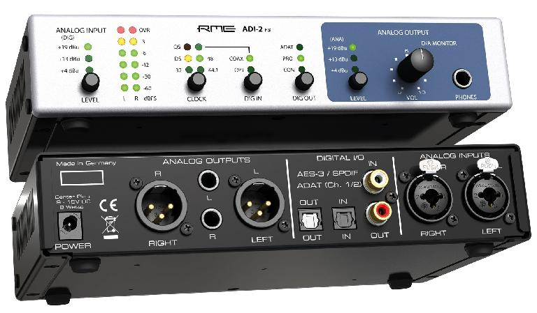 RME ADI-2 FS 2-channel converter front and rear