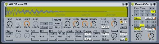 Snare delay settings