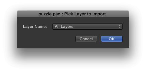Be sure to import all the layers, and not merged layers.
