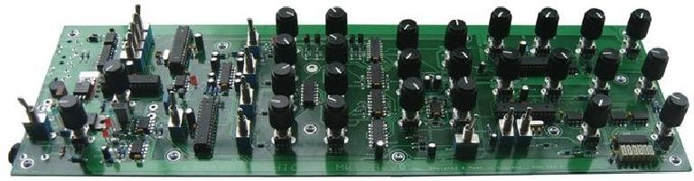 The PCB for LimaFlo's Chicago Mk 1 analogue synthesizer