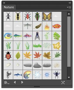 The butterfly selected in its native habitat, the Nature symbol library.