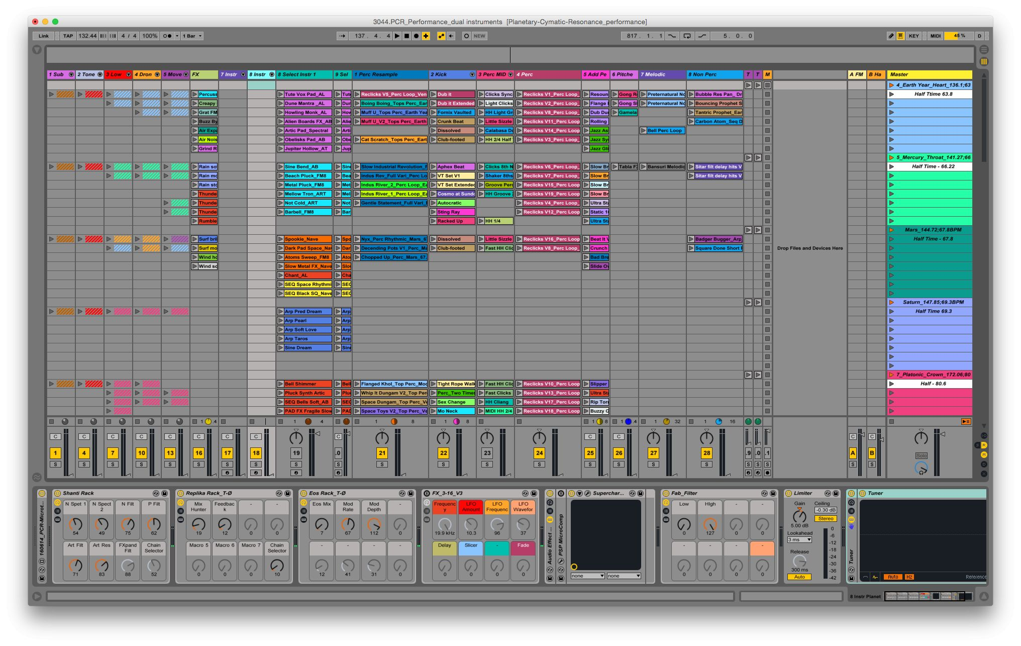 Ableton Live performance setup