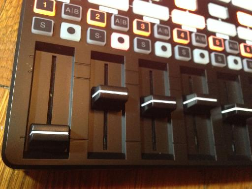 APC40 MKII Faders closeup