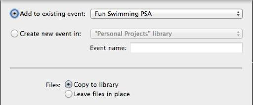 When you import media into an FCPX Library, you are given a choice to Leave In Place, or Copy To Library.