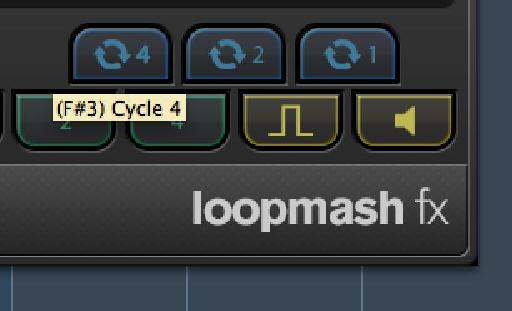 Control the loop length with the blue buttons.