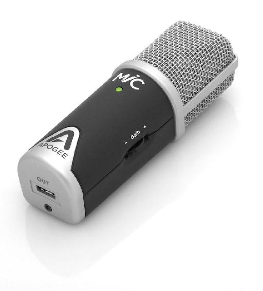 MiC is a beautiful microphone: compact, solid, sexy and yet very practical!