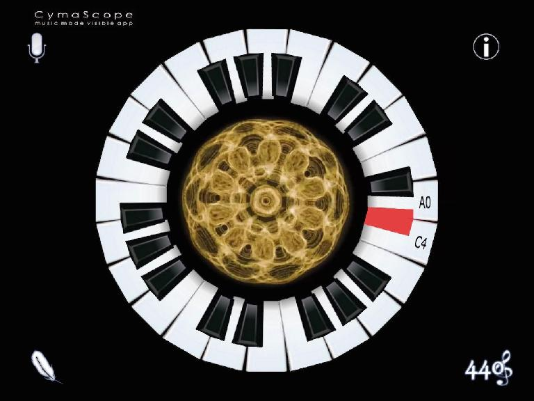 Figure 2 – Cymatic Rendering triggered by Piano Note.