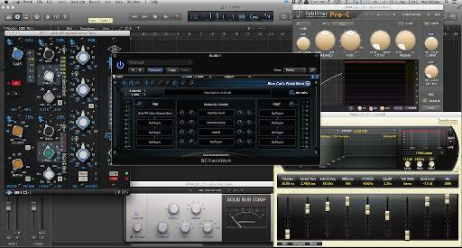 (Pic 1) Patchwork running some VSTs in Logic Pro X.