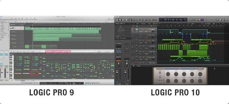Logic Pro 9 vs Logic Pro X