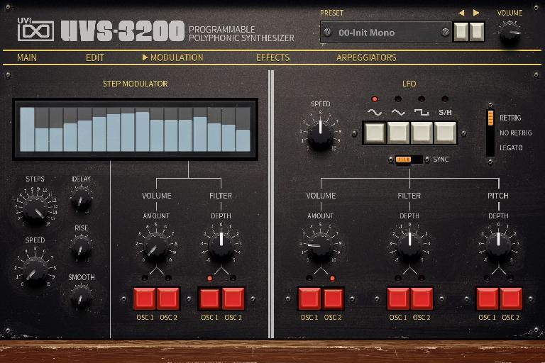 UVS-3200 modulation page.
