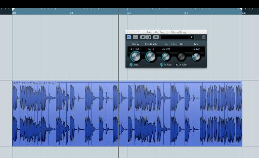 Cubase's super simple mono delay.