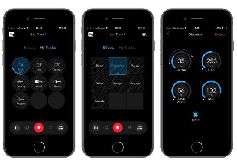 HyVibe Smart Acoustic Guitar mobile app