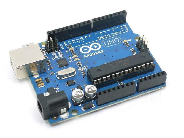The Arduino Uno microcontroller board