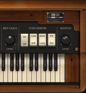 The DB-33 Percussion controls & Key Click.