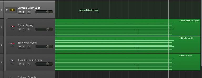 layered lead synths