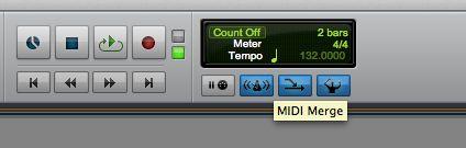 Activate MIDI Merge.