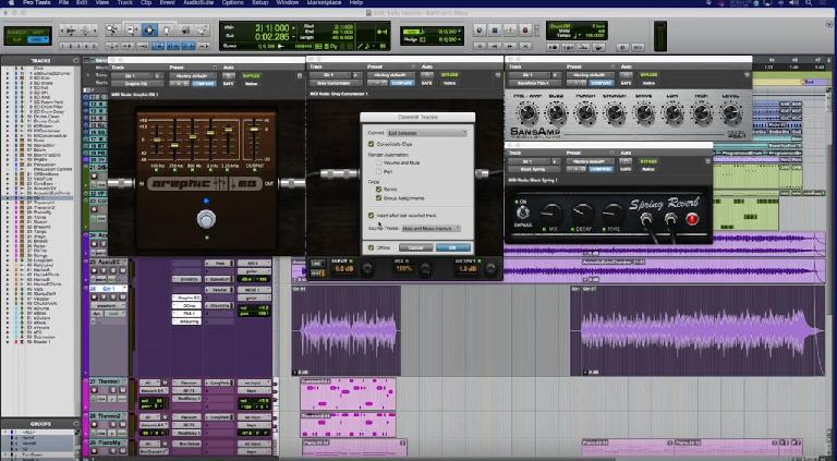 Pro Tools 12.4 Track Freeze